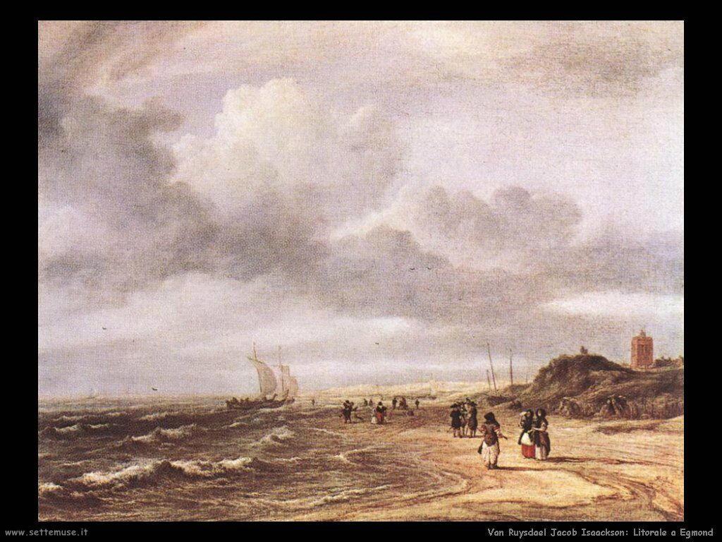 Spiaggia a Egmond Van Ruysdael Jacob Isaackszon