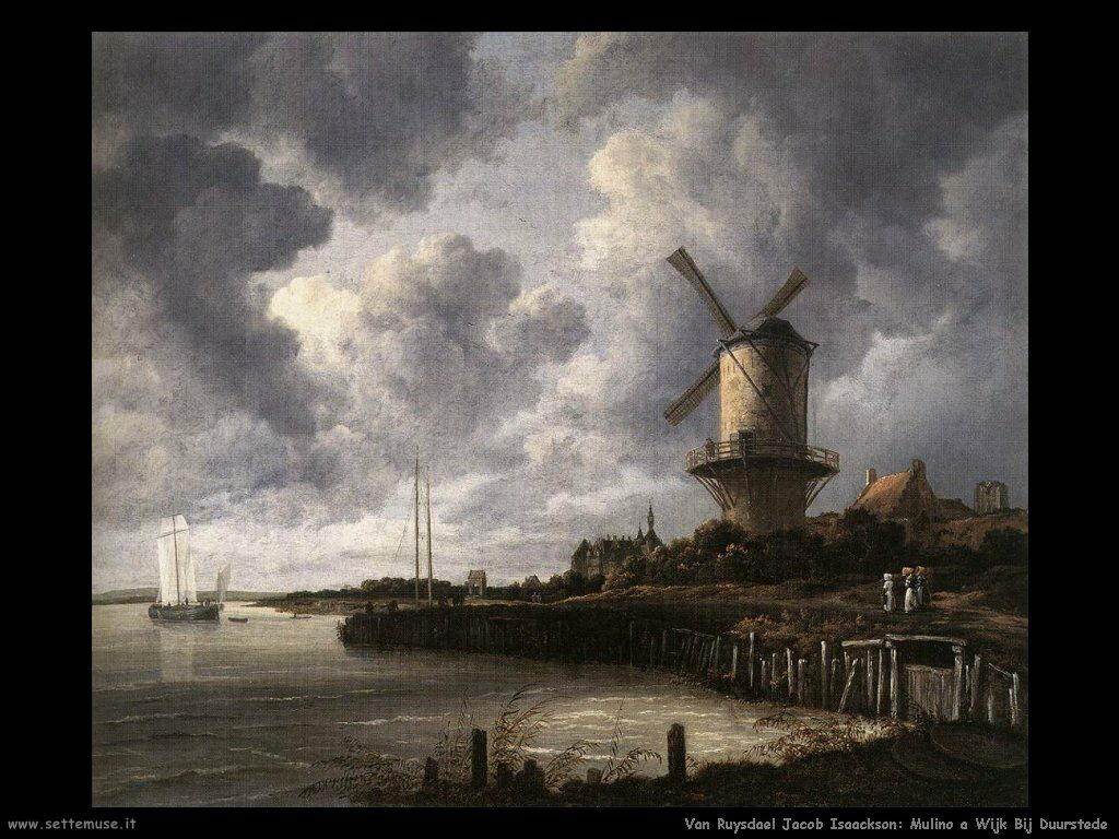 Mulino a vento a Wijk bij Duurstede Van Ruysdael Jacob Isaackszon