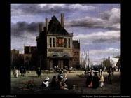 Piazza Dam di Amsterdam (dettaglio) Van Ruysdael Jacob Isaackszon