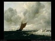 Mare in tempesta con barche a vela Van Ruysdael Jacob Isaackszon