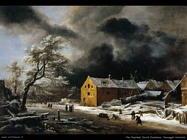 Paesaggio invernale Van Ruysdael Jacob Isaackszon