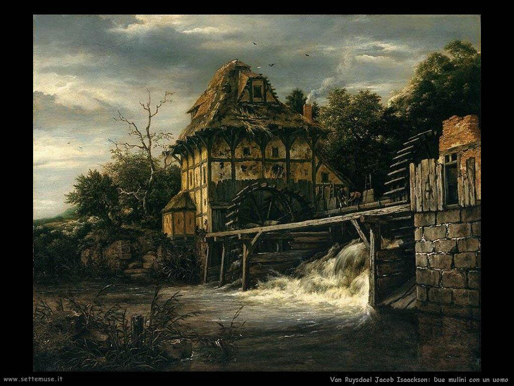 Due mulini ad acqua vicini Van Ruysdael Jacob Isaackszon
