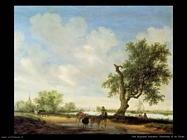 Panorama sul fiume Van Ruysdael Salomon