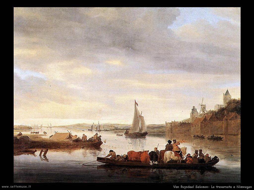 La traversata a Nimwegen Van Ruysdael Salomon