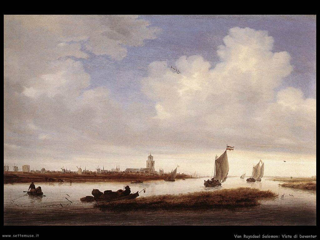Vista sul Deventer da nord Van Ruysdael Salomon