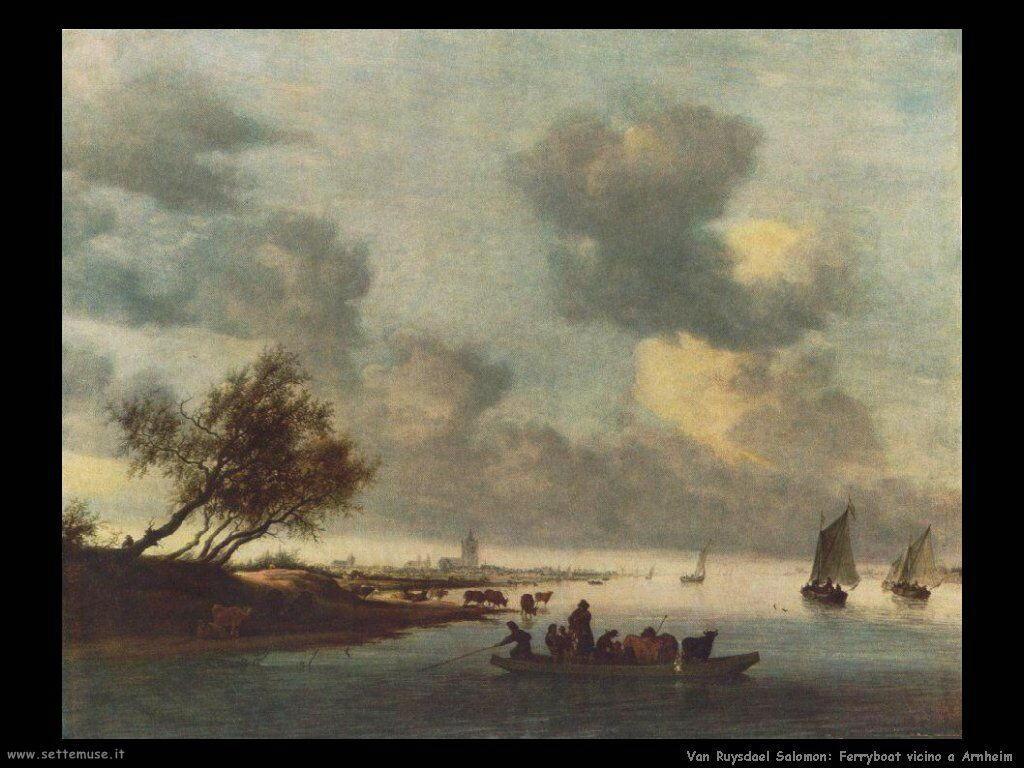 Un traghetto vicino a Arnheim Van Ruysdael Salomon