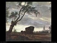 Sosta alla locanda (particolare) Van Ruysdael Salomon