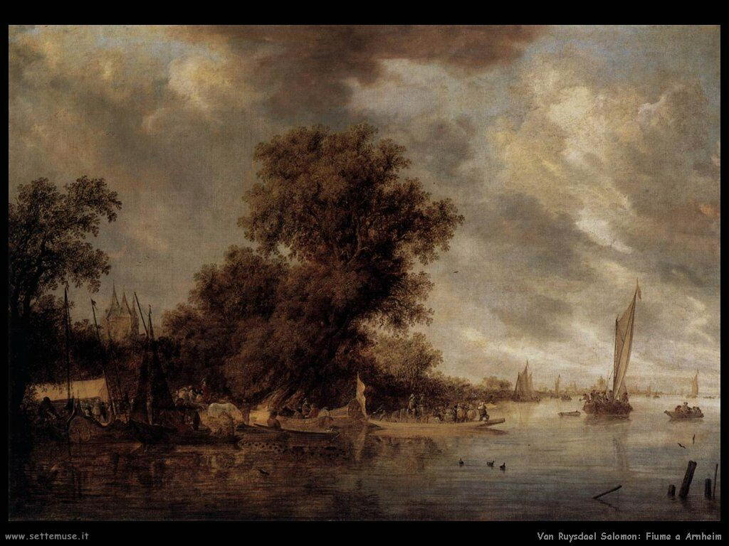 Paesaggio fluviale a Arnheim Van Ruysdael Salomon