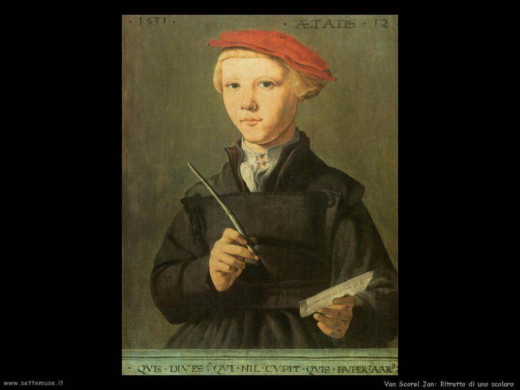 Van Scorel, Jan Ritratto di uno scolaro