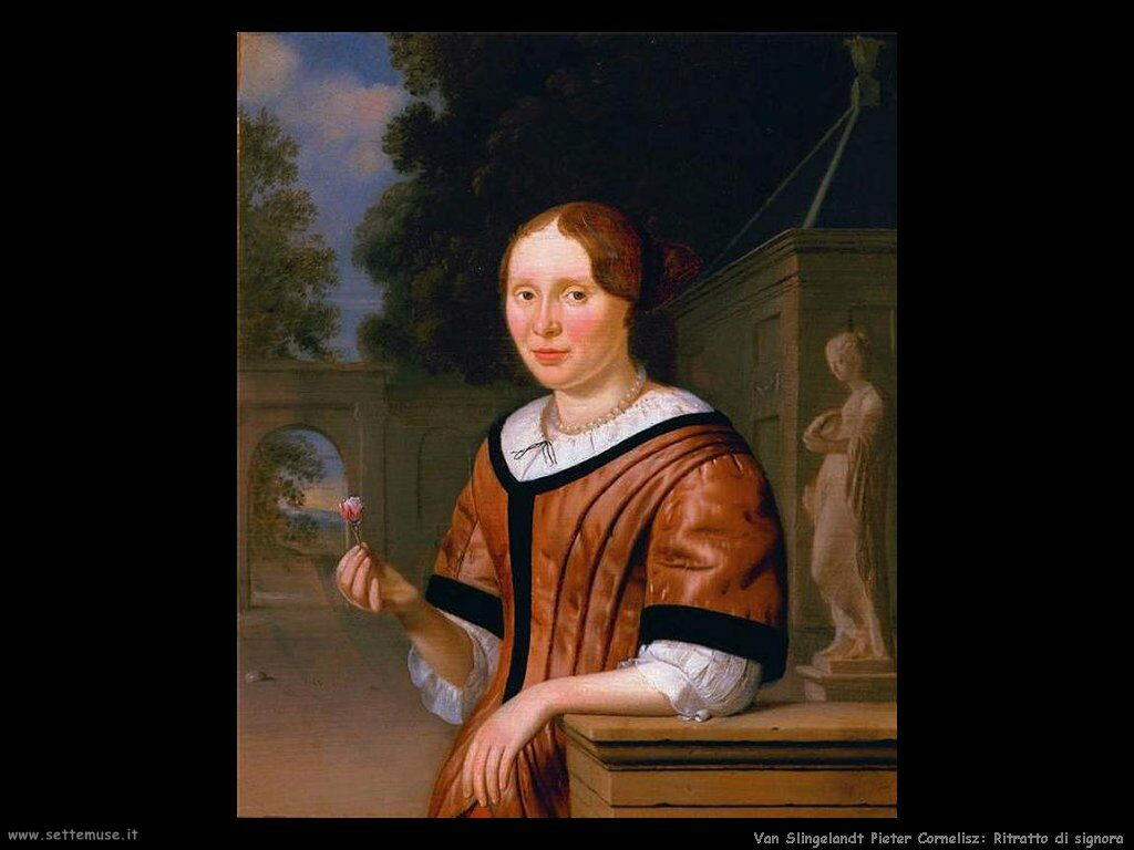 Van Slingelandt, Pieter Cornelisz Ritratto di signora
