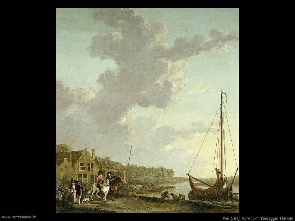 Van Strij, Abraham Ampio paesaggio fluviale