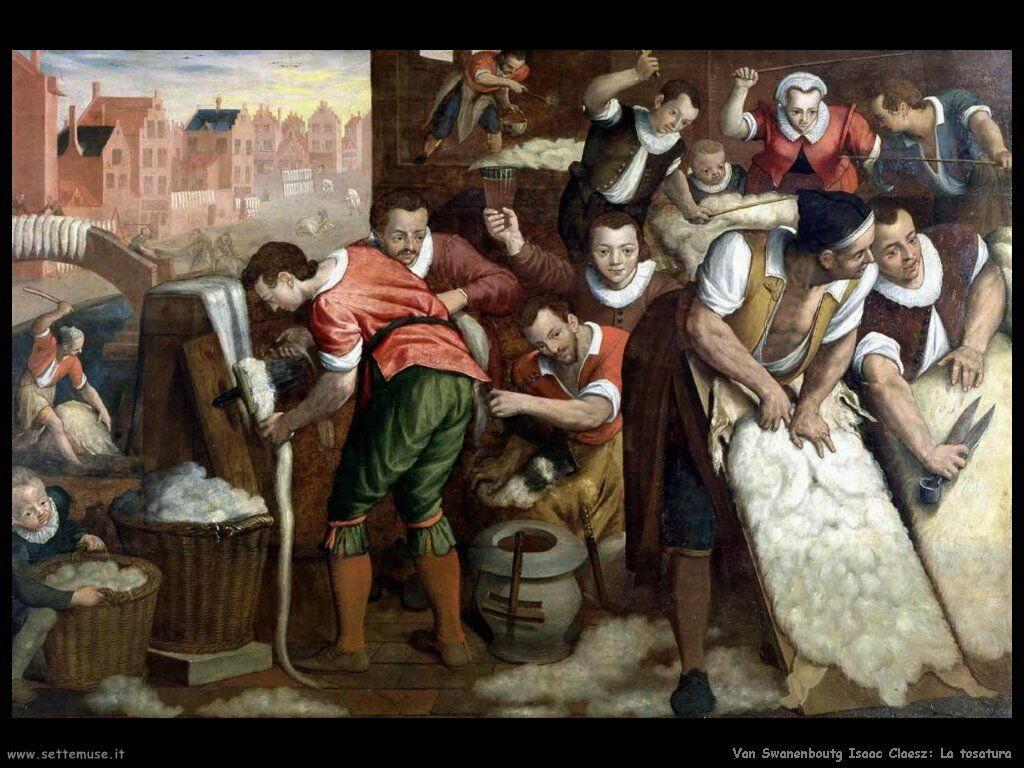 Van Swanenburg, Isaac Claesz La tosatura