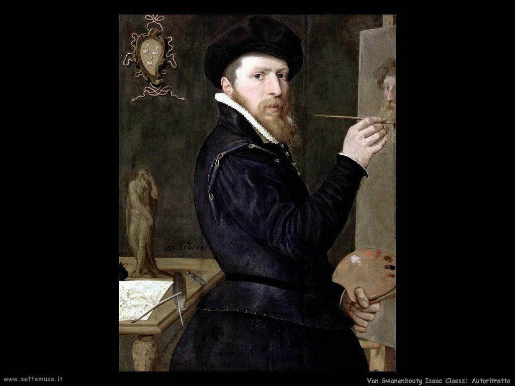 Van Swanenburg, Isaac Claesz Autoritratto