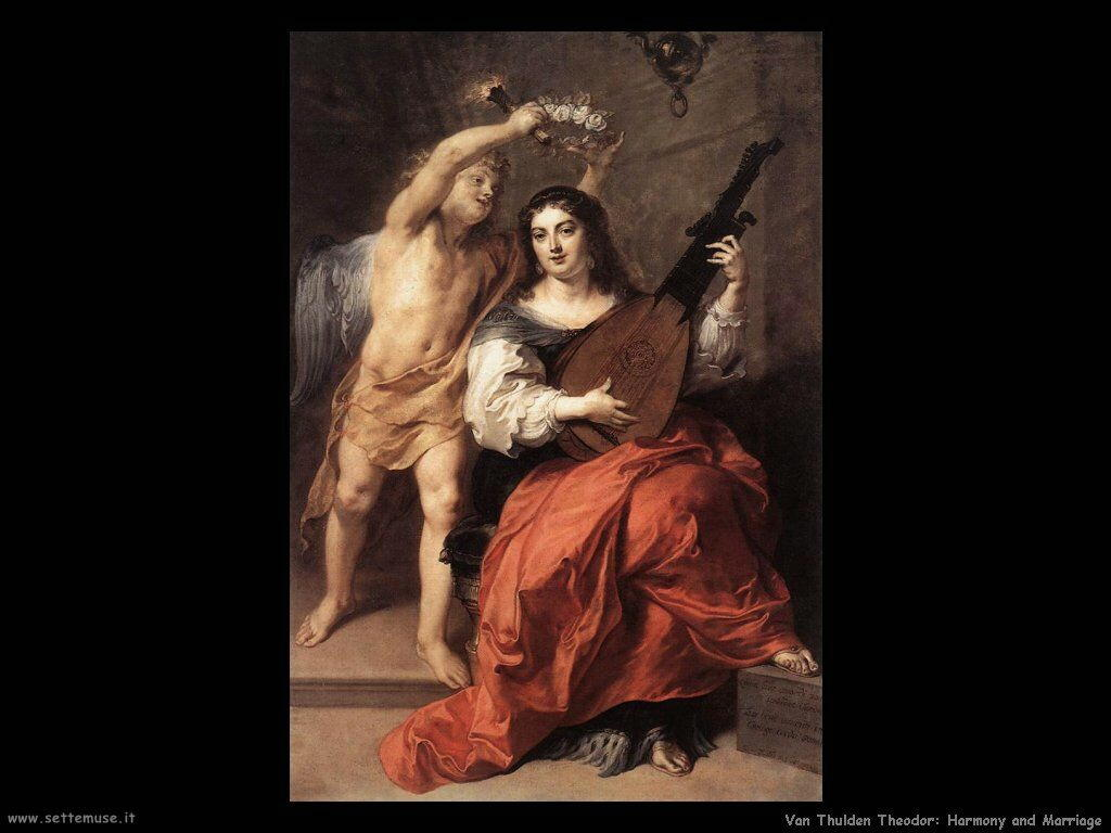 Van Thulden, Theodor Armonia e matrimonio