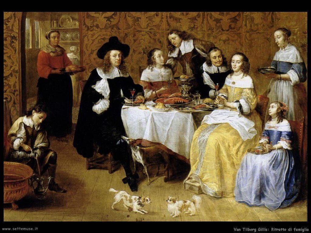 Van Tilborgh, Gillis Ritratto di famiglia