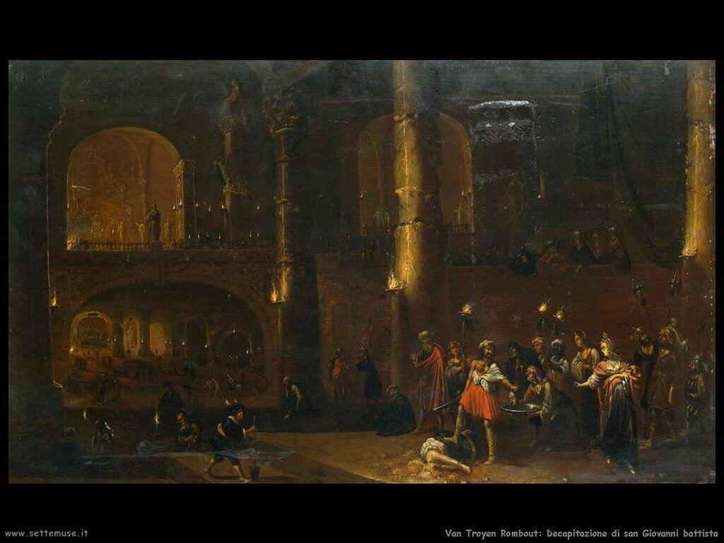 Van Troyen, Rombout Decapitazione di Giovanni il battista