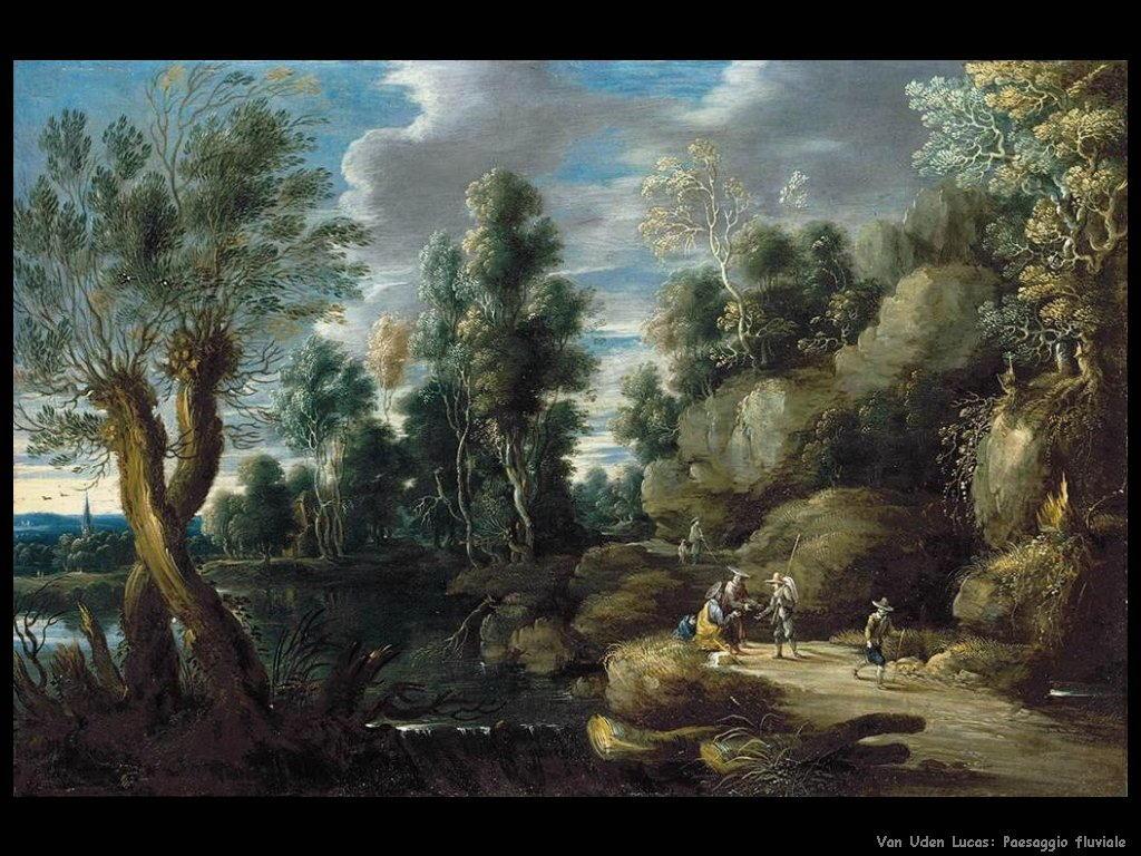 Paesaggio sul fiume Van Uden Lucas