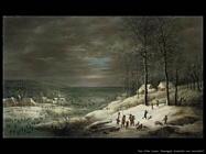 Paesaggio invernale con cacciatori Van Uden Lucas