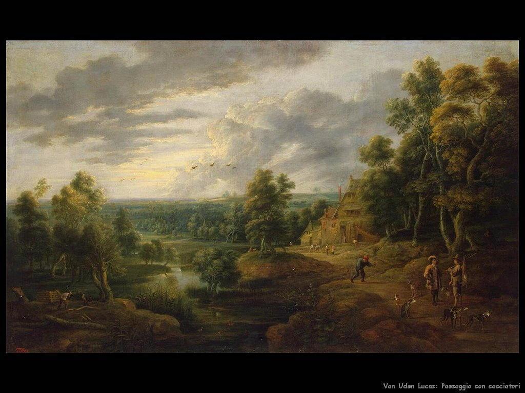 Paesaggio con cacciatori Van Uden Lucas