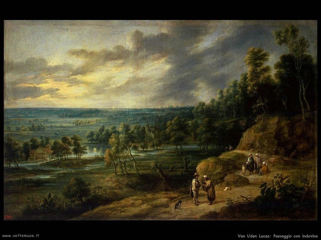 Paesaggio con indovino Van Uden Lucas
