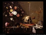 Van Utrecht, Adriaen Vanitas natura morta con bouquet