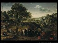 Van Valkenborch, Lucas Paesaggio con festa rurale