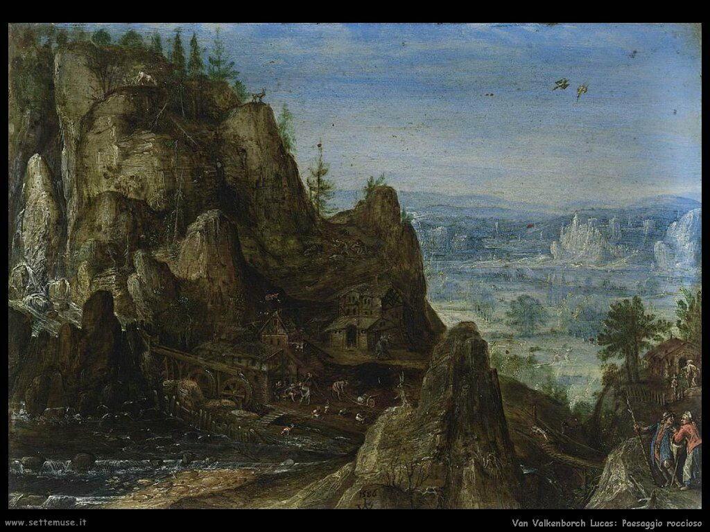 Van Valkenborch, Lucas Paesaggio roccioso
