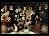 Van Veen, Otto L'artista che dipinge con attorno la sua famiglia
