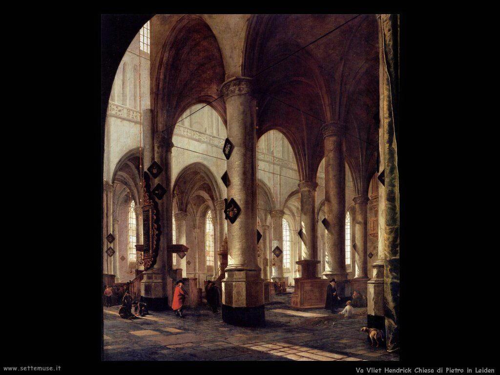 Van Vliet, Hendrick Cornelisz Pieterskerk a Leiden