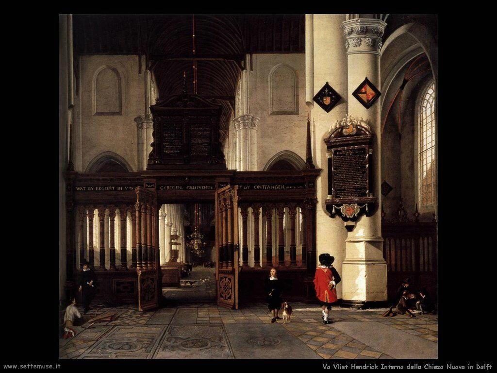 Van Vliet, Hendrick Cornelisz Interno della nieuwe kerk a Delft