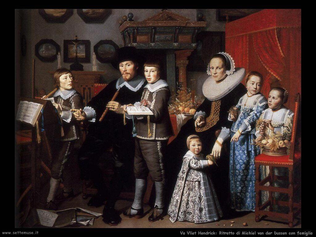 Van Vliet, Hendrick Cornelisz Ritratto ddi Michiel van der Dussen e famiglia