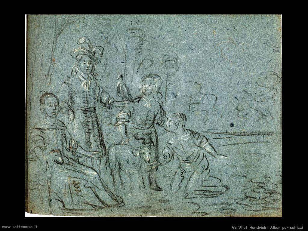 Van Vliet, Hendrick Cornelisz Brogliaccio degli schizzi