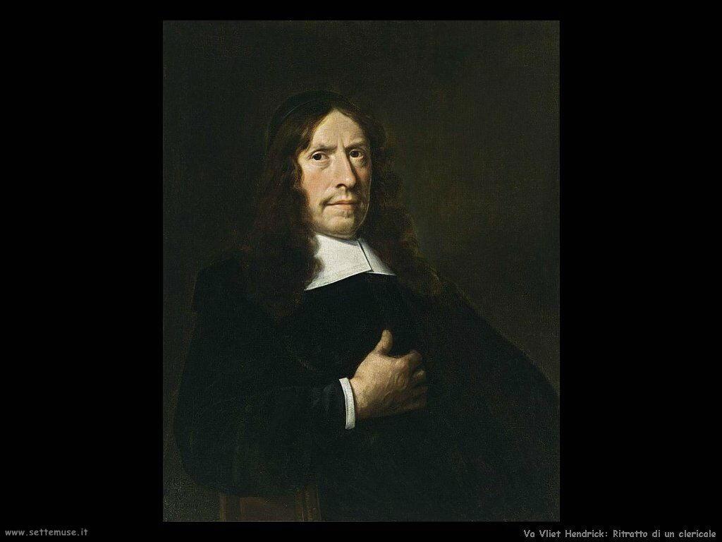 Van Vliet, Hendrick Cornelisz Ritratto di un clericale