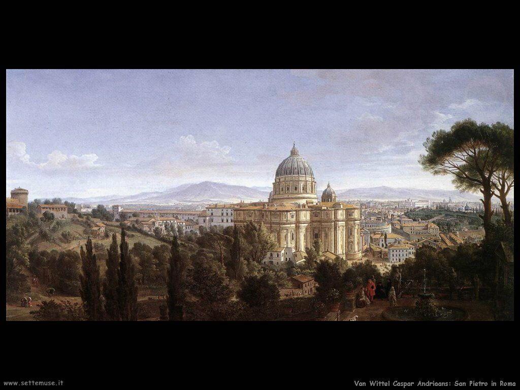 Chiesa di san Pietro a Roma Van Wittel Andriaans Caspar