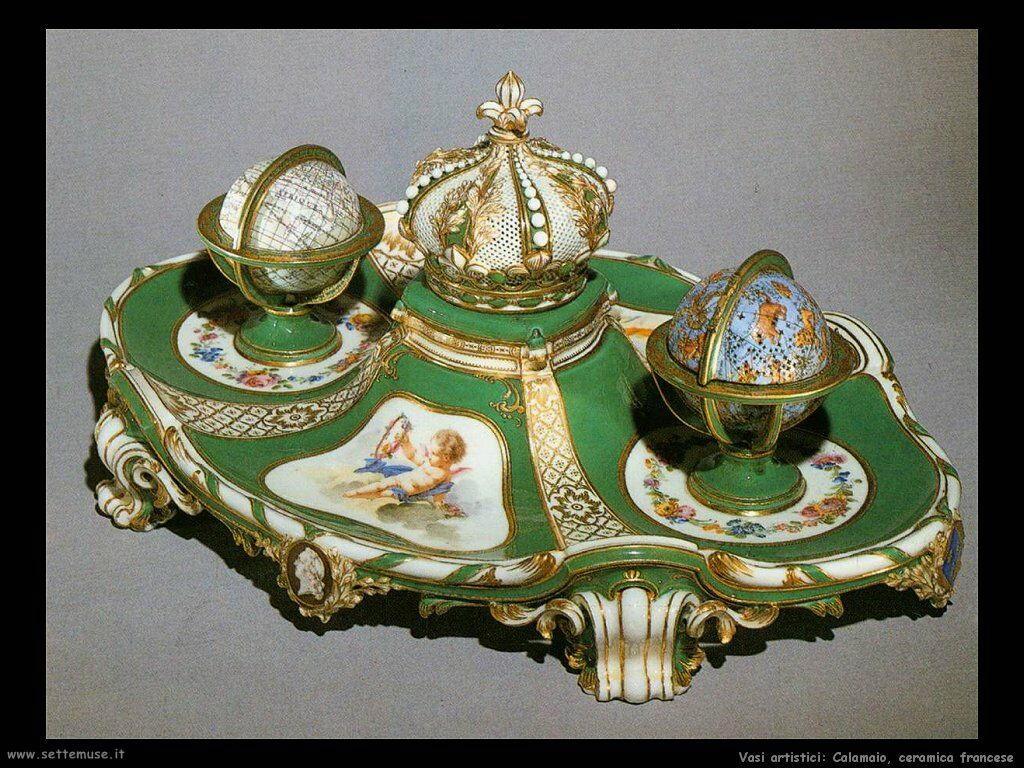 Calamaio, ceramica francese