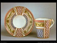 Tazza con piattino, ceramica francese