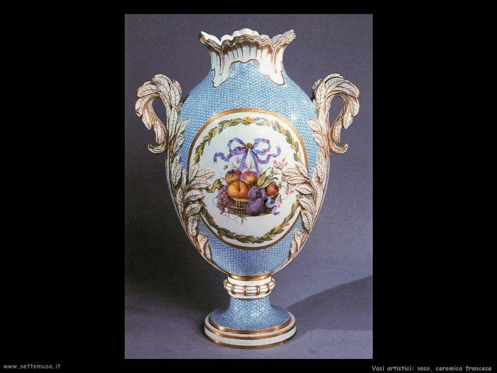 Vaso, ceramica francese