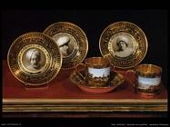 Tazzine con piattini, ceramica francese