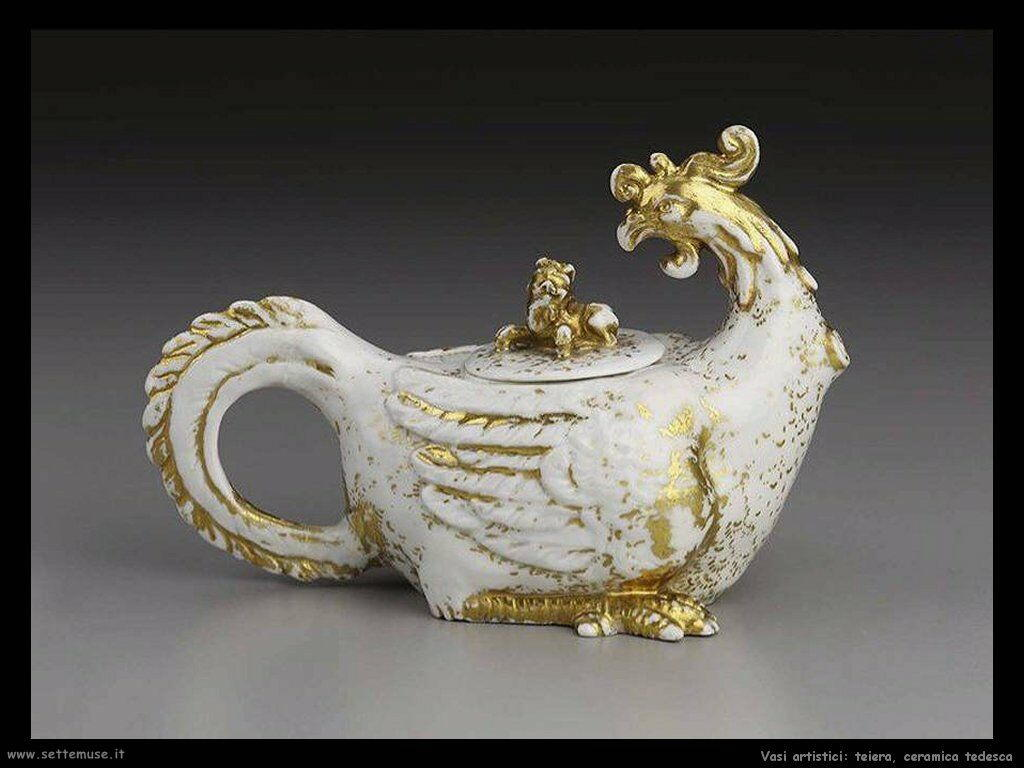 Teiera, ceramica tedesca