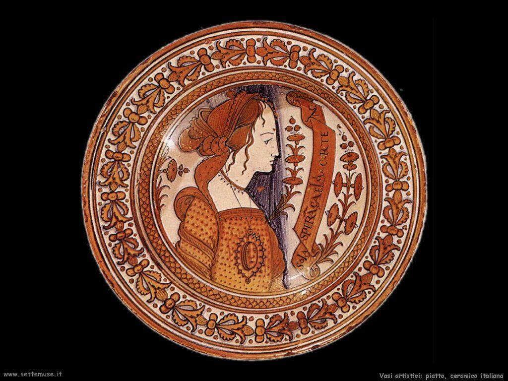 Piatto, ceramica italiana