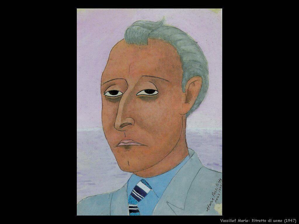 Ritratto di uomo (1947) Vassilieff Marie