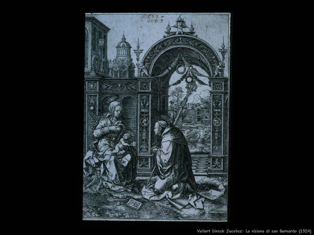 Vellert, Dirck Jacobsz La visione di san Bernardo (1524)