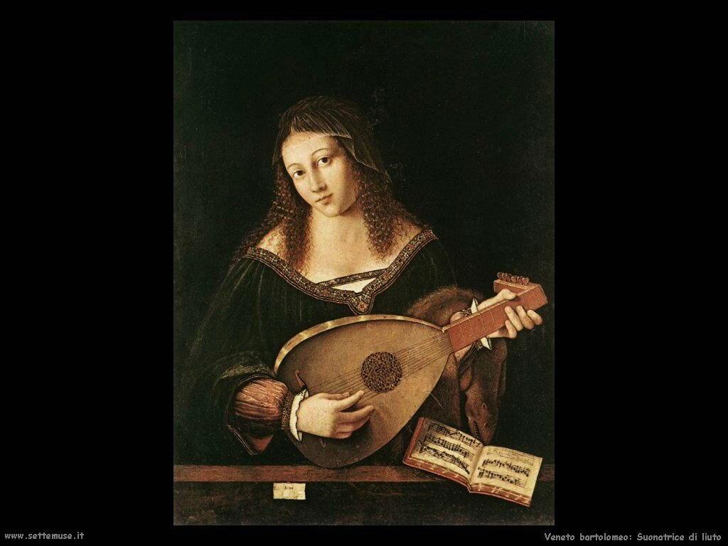 Donna che suona il liuto Veneto Bartolomeo