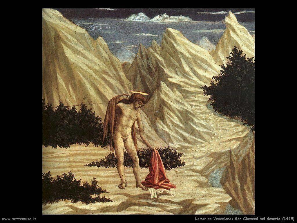 San Giovanni nel deserto (1445) Veneziano Domenico