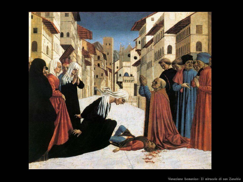 San Zenobio fa un miracolo Veneziano Domenico