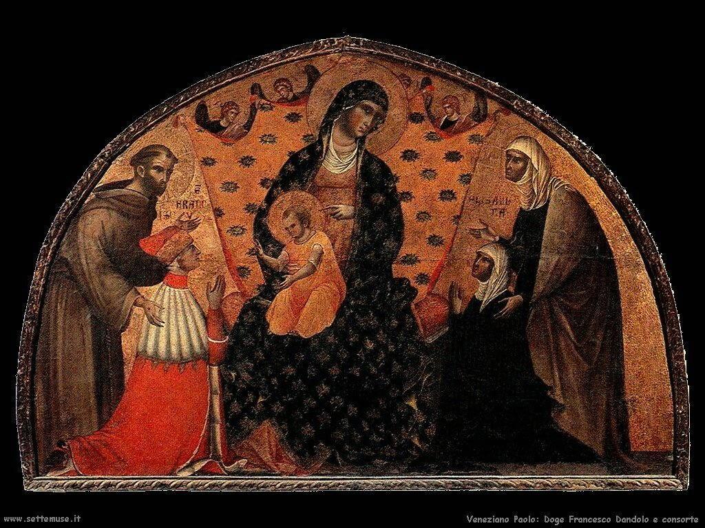 Il Doge Francesco Dandolo e sua moglie Veneziano Paolo