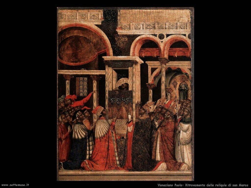 Riscoperta delle reliquie di San Marco Veneziano Paolo