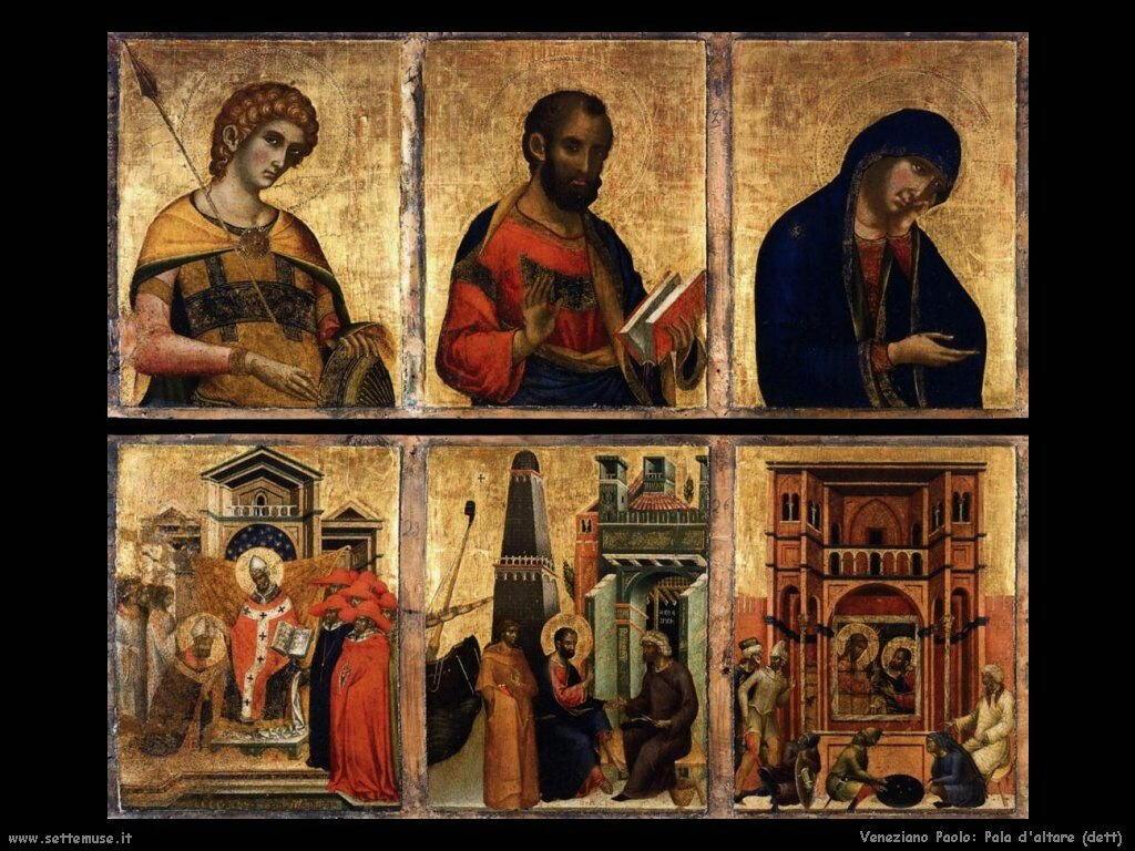 Dettaglio di Pala d'Altare Veneziano Paolo