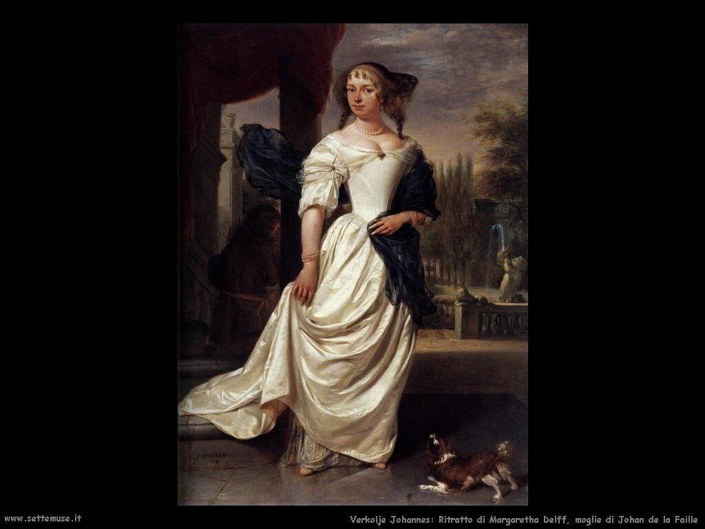 Margaritha Delf moglie di Johan de La Faille Verkolje Johannes