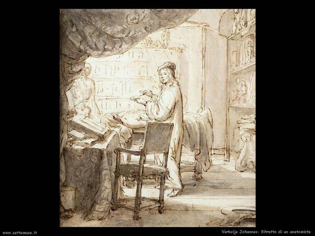 Ritratto di un anatomista Verkolje Johannes